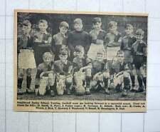 1960 Smallwood Junior School, Tooting Football Team J Parker K Abbott J Dick
