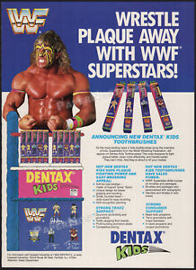 DENTAX__WWF Superstars__Original 1991 Trade AD / ADVERT_poster__Ultimate Warrior