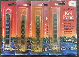 Koi pond thermometer 4 Pack! Shelf Worn Packages, NEW Items-Never Used.
