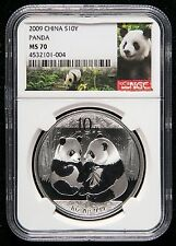 NGC MS70 2009 China Silver Panda Coin 1oz Regular Coin