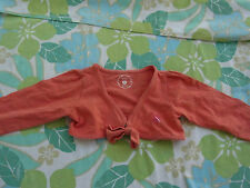 Little Girls Pumpkin Patch Cropped Orange/Pink Cardigan Cardi Size 2