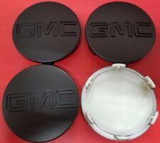 "4 Wheel Center Hub Cap GMC Matte Black Sierra Yukon XL Denali Hub Cap 83mm 3.25"""