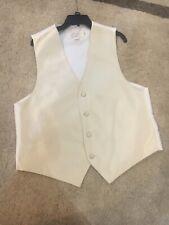 Medium Vest Cream Colored Wedding, Prom, Homecoming