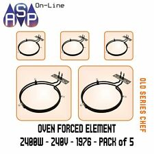 CHEF FAN FORCED OVEN ELEMENT 2400W - 240V - PART 36758 # 1976 PACK 5