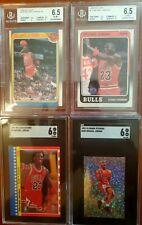 1987-92 Michael Jordan, graded Lot x 4