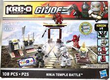 NINJA TEMPLE BATTLE GI JOE KRE-O Blocks Playset + Kreon Minifigures Arashikage