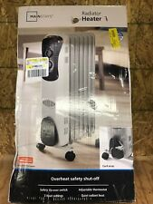 *Oil Filled Radiator Space Heater 1500 Watts Portable Electric Energy Efficient*