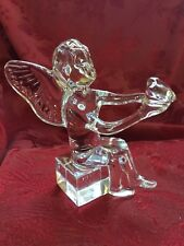 FLAWLESS Exquisite BACCARAT Crystal CHERUB ANGEL CUPID Holding LOVE HEART ❤️