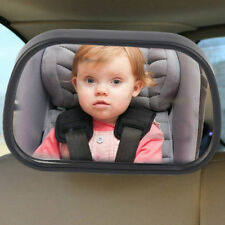 Car Rear Seat View Baby Child Safety Mirror Clip and Sucker Dual Mount 7p