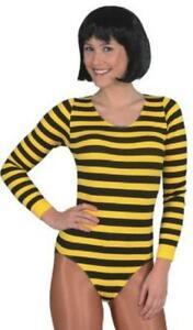 Body gestreift Biene Bienen Streifen Tier Kostüm Kleid Weste Tasche Hut Stulpen
