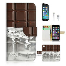 ( For iPhone 7 Plus ) Wallet Case Cover P0734 Chocolate
