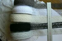 CROCHET LACE - 30-35mm wide 1 or 2 Metre Lengths - 5 Colour Choice May Arts LLD6