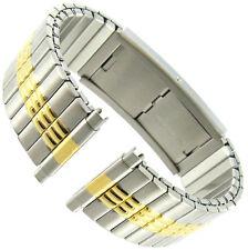 16-22mm Timex Two Tone Silver Gold Faux Buckle Twist O Flex Mens Watch Band 824