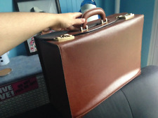 Leather VINTAGE BOXED SUITCASE - Travel Suitcase - Work Files Case
