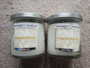 Yankee Candle BRAND NEW Congratulations Wedding Day Small Pillar Candles 198g x2