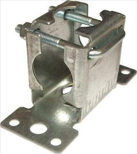 """TV AERIAL FACIA BRACKET WITH CLAMP. FOR 1"""" TUBE. HORIZONTAL OR VERTICAL MOUNT"""