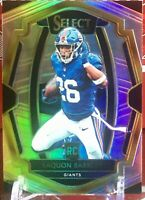 2018 SAQUON BARKLEY RC SP Panini Select SILVER PRIZM PREMIER LEVEL #105 GIANTS