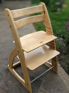 Wooden childs high chair - similar to Stokke Tripp Trapp