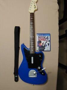 PS4 Rock Band 4 Fender Jaguar guitar and game