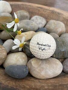 Logo Golf Ball Advertising Golfing MARYLAND CLUB COFFEE