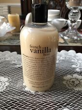 Philosophy French Vanilla Bean 16 Fl. Oz. Shampoo, Shower Gel, & Bubble Bath