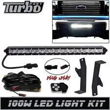 "Fit 2006 2008 Ford F150 20"" 100W Slim LED Light Bar +Hidden Bumper Bracket +Wire"