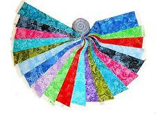 "20 2.5"" Quilting Fabric Jelly Roll WOF Beautiful Batik Tonals !!!!!Buy it Now !"