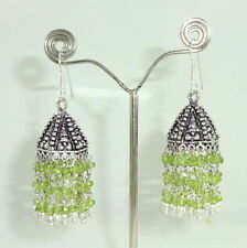 NATURAL PERIDOT FINE FACETED 4MM GEMSTONE BEAUTIFUL CHARMING EARRINGS 23 GRAMS