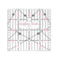 """Crafters Dream Transparent Quilting & Patchwork Ruler Template 4"""" x 4"""" CD44"""