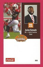 JAYLEN SAMUELS 2018 REESE SENIOR BOWL NORTH CAROLINA STATE WOLFPACK ROOKIE CARD