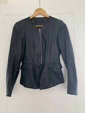 Zara Black 100% Leather Jacket Size XS