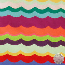 Alexander Henry Folklorico Del Mar Scallop Stripes Tea Cotton Fabric
