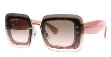 Miu Miu MU01R Glittered Square Pink Sunglasses With Overlay Lenses