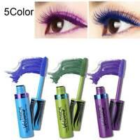 4D Silk Fiber Long Lasting Mascara Colour Fancy Dress Curling Eyelashes 5 Colors