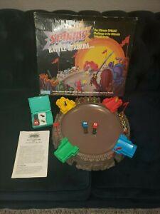 SPINJAS Battle Stadium 18 Warriors Parker Brothers TOMY 1987 MINT & COMPLETE!