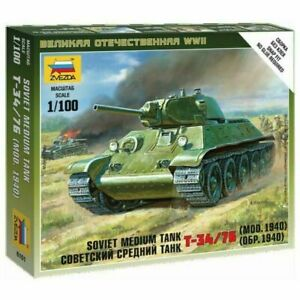 Zvezda 1/100 Soviet T34/76 Mod.1940 Medium Tank Z6101