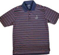 Adidas Climalite PINEHURST 1895 Golf Men's Blue White Stripe Polo Shirt SMALL