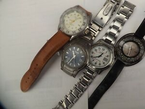 4 gents quartz watches spares/ repairs