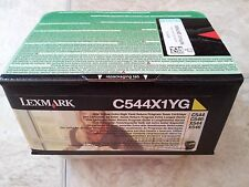 LEXMARK-C544X1YG ONE YELLOW EXTRA HIGH YIELD RETURN TONER CARTRIDGE (NEW IN BOX)