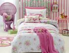Jiggle Giggle Girls Shabby Chic Floral Queen Bed Quilt Cover Set Doona Cover