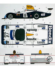 ST27 BENDIX DECAL LM 77 for TAMIYA 1/24 RENAULT A442