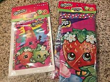 NEW SHOPKINS Birthday Plastic Tablecover and 25 Party loot Candy Bags Free Ship!