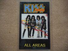 "KISS ""ASYLUM"" ALL AREAS 1985 ORIGINAL LAMINATED BACKSTAGE PASS"