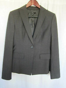 Ann Taylor Women's Blazer Jacket Size 4 Gray NEW WITH TAGS