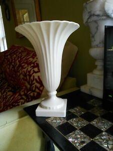 Lenox Regal Trumpet Vase Off White Ribbed