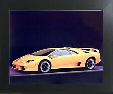 Lamborghini SV Diablo Racing Sports Car Wall Decor Art Framed Picture (20x24)