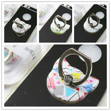 For Mobile Phones Tablet iPhone iPad 360°Finger Grip Metal Ring Stand Holder