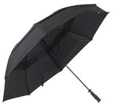 Mens Windproof Solid Double Canopy Golf Size Long Umbrella