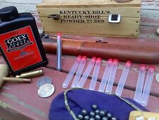 Kentucky Bill's Black Powder Speed Loading Muzzle loader Tubes, 25 tubes