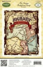 "JUSTRITE CLING Stamps THE JOURNEY BACKGROUND STAMP CL-04520 4.5"" x 5.75"" USA"